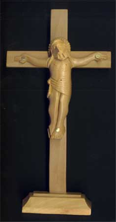 Wall and Desk Crucifixes: Handmade 6in Standing Crucifix
