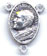 Rosary Centers : Silver Colored: John Paul II Size 3 OX