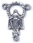 Rosary Centers : Silver Colored: Miraculous Cutout Size 4 OX