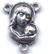 Rosary Centers : Silver Colored: Mary and Child Size 5 SP