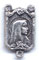 Rosary Centers : Sterling Silver: Mary with Roses SS