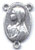Rosary Centers : Silver Colored: Mary Praying Size 3 OX