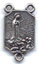 Rosary Centers : Silver Colored: Our Lady of Fatima Size 4 OX