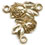 Rosary Centers : Solid Gold: Roses Size 4 14kt