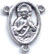Rosary Centers : Silver Colored: Sacred Heart Size 3 OX