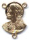 Rosary Centers : Solid Gold: Sacred Heart Size 4 14kt*