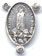 Rosary Centers : Silver Colored: Our Lady of Fatima OX