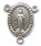 Rosary Centers : Silver Colored: Miraculous Small OX