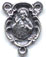 Rosary Centers : Silver Colored: Sacred Heart OX Size 3