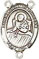 Rosary Centers : Sterling Silver: St. Lidwina of Schiedam SS Ctr