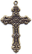 Rosary Crosses : Gold Colored: Renaissance GP