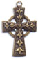 Rosary Crosses : Gold Colored: Celtic Small GP