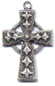 Rosary Crosses : Silver Colored: Celtic Small SP