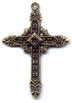 Rosary Crosses : Gold Colored: Royal GP