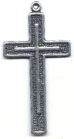 Rosary Crosses : Silver Colored: Latin Str. Cross (Size 5) OX