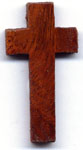 Rosary Crosses : Silver Colored: Wood Brown Cross