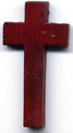 Rosary Crosses: Wood Cherry Cross