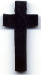 Rosary Crosses: Wood Black Cross