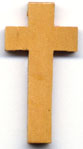 Rosary Crosses : Silver Colored: Wood Light Brown Cross