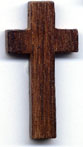 Rosary Crosses: Wood Walnut Cross