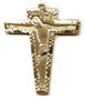 Rosary Crucifixes : Solid Gold: Angular (Size 4) 14kt*