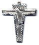 Rosary Crucifixes : Sterling Silver: Angular (Size 4) SS