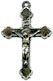 Rosary Crucifixes: Antique Relief SS (Size 3)