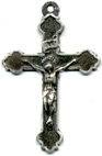 Rosary Crucifixes: Antiqued Relief Crucifix SS