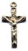 Rosary Crucifixes : Solid Gold: Basic (Size 3) 14kt*