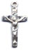 Rosary Crucifixes : Silver Colored: Basic (Size 3) SP