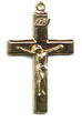 Rosary Crucifixes : Solid Gold: Basic (Size 5) 14kt*