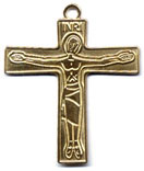 Rosary Crucifixes : Solid Gold: Cursillo (Size 7) 14kt*