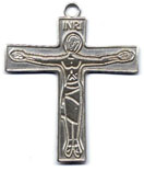 Rosary Crucifixes : Silver Colored: Cursillo (Size 7) SP