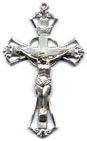 Rosary Crucifixes : All Materials: Cutout (Size 6) SS
