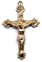 Rosary Crucifixes : Gold Filled: Budded (Size 6) GF