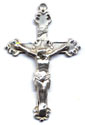 Rosary Crucifixes : Sterling Silver: Budded (Size 6) SS