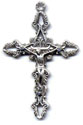 Rosary Crucifixes : Silver Colored: Filagree (Size 4) NS