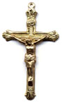 Rosary Crucifixes: Flared (Size 6) GF