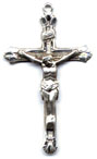 Rosary Crucifixes : Sterling Silver: Flared (Size 6) SS