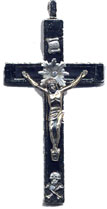 Rosary Crucifixes : Silver Colored: Happy Death (habit) PLNS