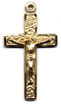 Rosary Crucifixes : Gold Filled: Inlaid (Size 4) GF