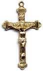 Rosary Crucifixes : Solid Gold: Inlaid (Size 6) 14kt*