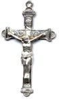 Rosary Crucifixes : Sterling Silver: Inlaid (Size 6) SS