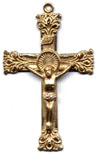 Rosary Crucifixes : Solid Gold: Living (Size 6) 14kt*