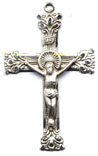Rosary Crucifixes : Sterling Silver: Living (Size 6) SS