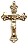 Rosary Crucifixes : Solid Gold: Ribbon (Size 6) 14kt*