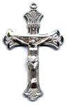 Rosary Crucifixes : Sterling Silver: Ribbon (Size 6) SS
