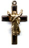 Crucifixes for Necklaces: Risen Christ (Size 4) 14kt*