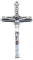 Rosary Crucifixes : Silver Colored: Small Log (Size 3) NS