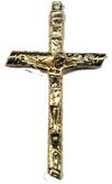 Rosary Crucifixes : Gold Colored: Rugged (Size 6) GP
